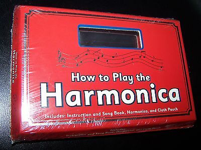 Brand NEW -- How to Play the Harmonica -- includes Harmonica & Song Book