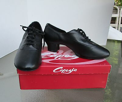 "Capezio Black LATIN BALLROOM Dance Shoes - Men's Size 9 W -2"" CUBAN HEEL- NEW"