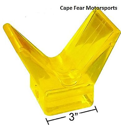 "3"" Yellow Poly Bow Stop Boat Trailer PWC Watercraft Trailer Deep Vee 4.5"" Wide"