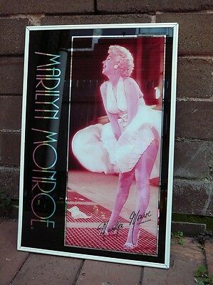 Retro/Kitsch Vintage 1980s Wall Bar Mirror Picture MARILYN MONOROE Hanging
