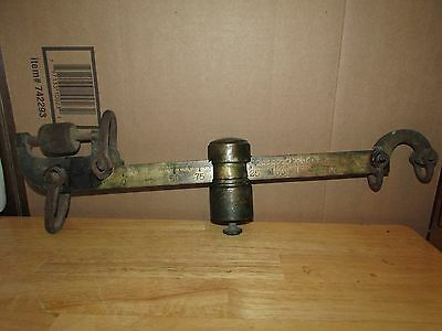 Antique HOWE Brass Scale Arm Weight and Measuring U.S.A.