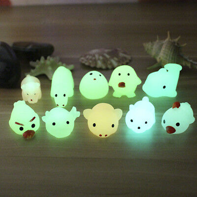 1PC Cute Luminous Squeeze Toy Decompression Relax Kids Toy Home Decoration