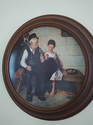 Vintage Knowles Retired 1979 Norman Rockwell Collectable Plate W/Frame COA/Back