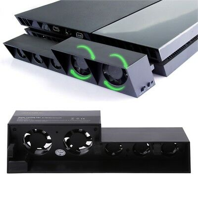 USB Cooling 5 Fan Cooler External Turbo Temperature Control for Playstation PS4