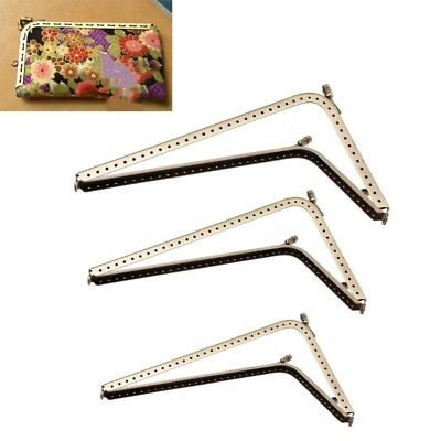 1Pc DIY Purse Handbag Handle Coins Bags L Shape Metal Kiss Clasp Lock Frame