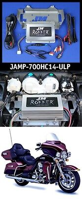 J&M ROKKER XXRP 700w Watt 4 Channel DSP Programmable Amp kit 14-18 Harley Ultra