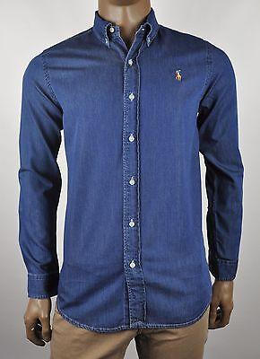 Polo Ralph Lauren Slim Fit Denim L/S Shirt For Men