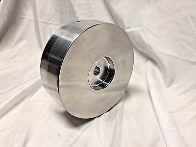 "Belt Grinder Drive Wheel 7"" Diameter, 7/8"" Shaft for 2X72 Knife Grinder Balanced"
