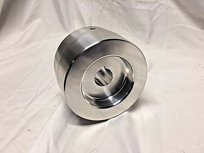 "Belt Grinder Drive Wheel 4"" Diameter, 5/8 Shaft for 2X72 Knife Grinder"