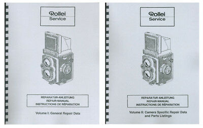 Rollei Rolleiflex Service & Repair Manual for TLR Cameras: 2 Volume Set