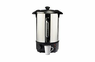 Electric Hot Water Heater Urn 10L Litre 40 Cup Stainless Steel Boiler Kettle Tap