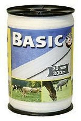 Corral Basic Fencing Tape 200M X 20Mm Equine Horse Fencing