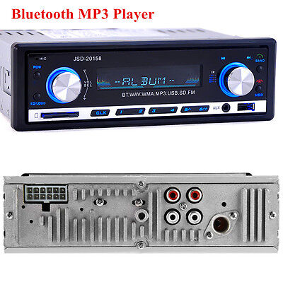 Vehicle Car Stereo Player Bluetooth USB MP3 FM Radio In Dash Receiver Audio AUX