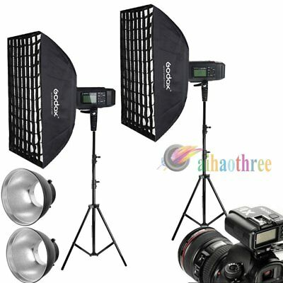 2Pcs Godox AD600B 600W TTL HSS 1/8000s Studio Flash Strobe Softbox Trigger Kit