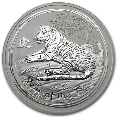 2010 Australia 1 oz Perth .999 Silver Lunar Tiger (from mint roll)