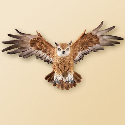 Realistic Looking Beautiful Wing Wide In Flight Owl Flying Owl Wall Decor