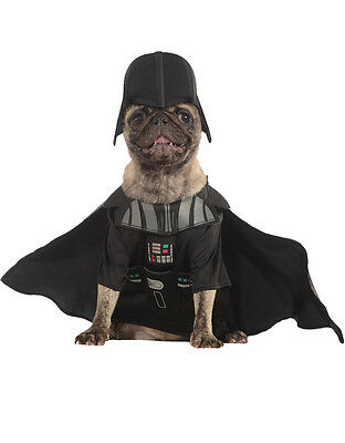 "Darth Vader Star Wars Dog Pet Costume, Small, Neck to Tail 11"", Chest 17"""