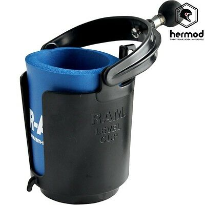 "Ram Mount Motorcycle Self Leveling Cup Holder with 1"" Ball"