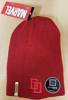 MARVEL Daredevil Punisher Reversable Beanie Hat Loot Crate Marvel Exclusive NEW