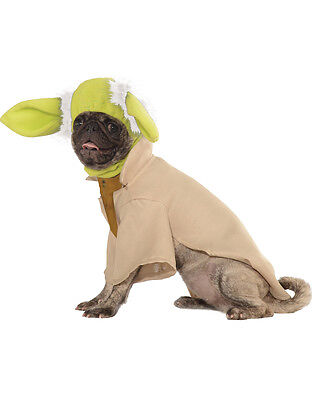 "Yoda Star Wars Dog Pet Costume,Medium, Neck to Tail 15"", Chest 20"""