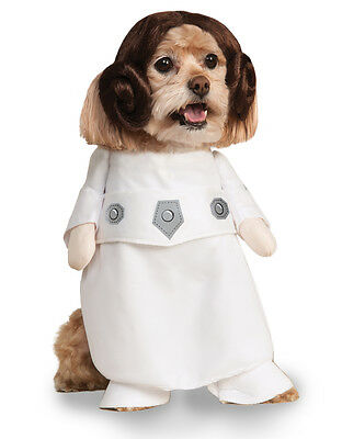 "Princess Leia Star Wars Dog Pet Costume, Small, Neck to Tail 11"", Chest 17"""