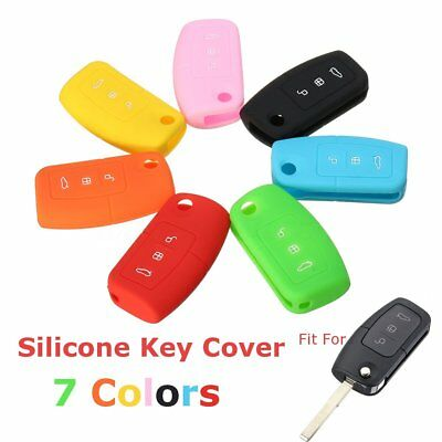 3 Button Car Silicone Key Fob Case Cover Shell For Ford Focus Fiesta Mondeo MK4