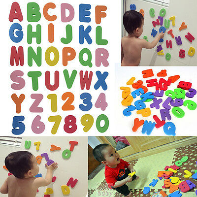 36pcs Baby Kids Sponge Foam Letters & Number Floating Bath Tub Swimming Play Toy