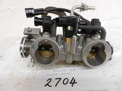 Suzuki Burgman 650 2014 Executive Throttle Bodies  (2704)
