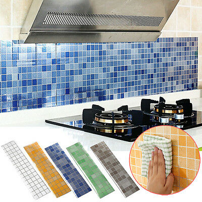 Bathroom Resistant Kitchen Sticker Self-adhesive Wallpaper Waterproof Anti Oil