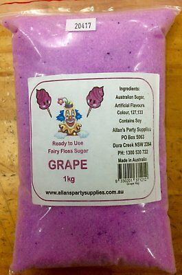NEW Fairy Floss Sugar - Grape 1kg Party Supplies Occasion Birthday Christmas