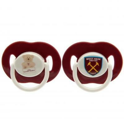 West Ham United Soothers Dummies Pacifier Baby Gift Official Licensed Product