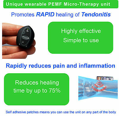 Treatment for tendonitis with advanced PEMF micro therapy device