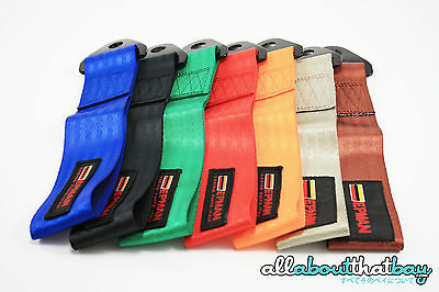 EPMAN Fabric Tow Strap Rope Towing Pull Hook - 7 Colours JDM Drift Car Kit