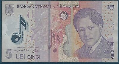ROMANIA - 5 LEI - 2005 - TICKET FROM BANK Quality: TTB