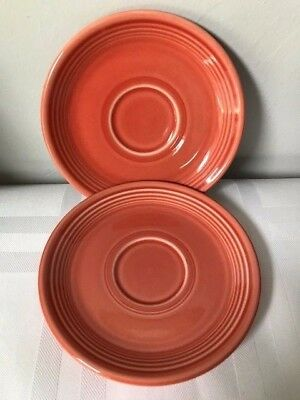 2 Homer Laughlin Fiesta Saucers