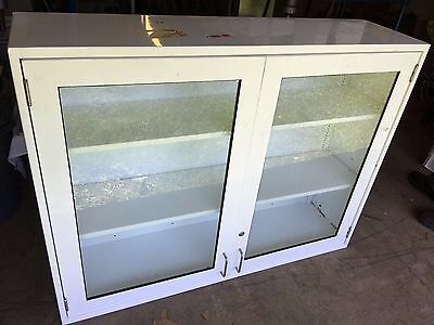 Used White Metal Laboratory Cabinet/Case - Medical Use, Office Use, and more!