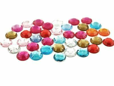 40 Cabochons 12 mm Acryl Mischung