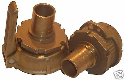 "2"" Elaflex ""TW"" Brass Coupler with 1-1/2"" Hose Adapters"