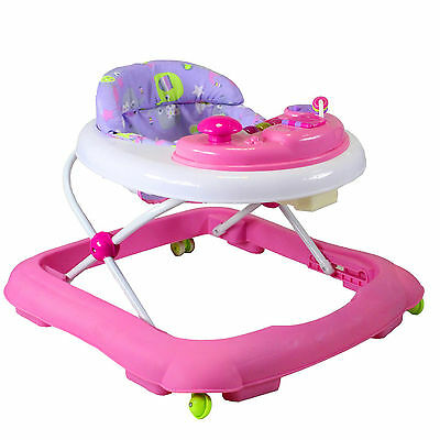 New Red Kite Pink Eleflump Baby Go Round Jive Adjustable Compact Activity Walker