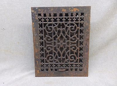 Antique Cast Iron Heat Grate Victorian Vent Register Decorative 12x9 319-17P
