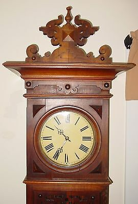 German (signed Furtwangler) tall case grandfather clock--19th century---15408