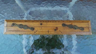 Antique Parallel Rule Brass Nautical Drafting Wooden Tool CAPT FIELD'S IMPROVED
