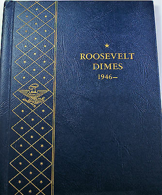 1946- 1968  Roosevelt Dimes Complete Silver Uncirculated Coins Whitman 9115 (B)