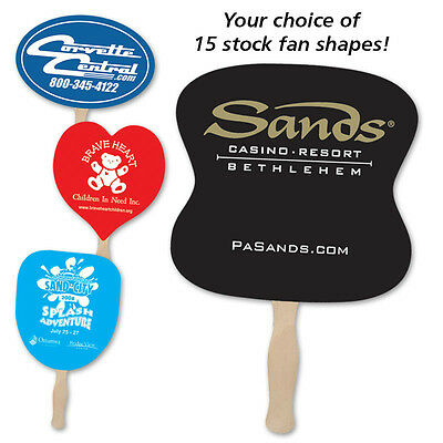HAND FANS - 500 quantity - Custom Printed with Your Logo