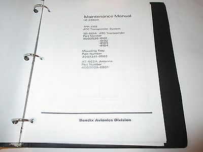 Bendix Tpr-660 Tr-661A At-662A Atc Transponder Maintenance Manual