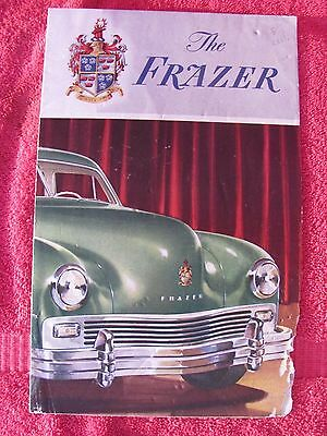 Vintage 1948 Kaiser - Frazer Automobile Car Auto Specifications Brochure Manual