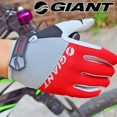Men's Cycling Grip Shock-Absorbing Touch Screen Giant Full Finger Silicon Gloves