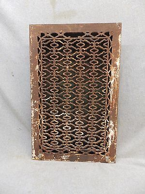 Antique Cast Iron Heat Grate Vent Register Old Design Decorative 20x12 345-17P