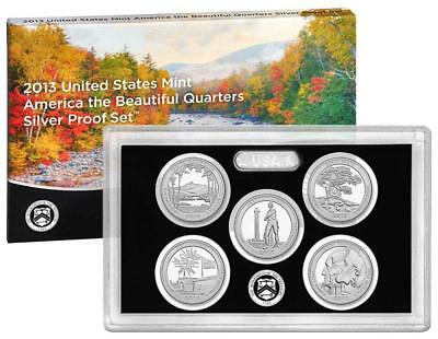 2013 US Mint Silver Proof Quarter 25c Coin Set America The Beautiful