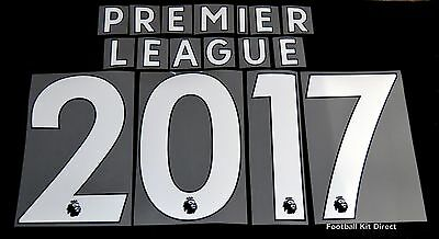 Premier League 2017/18/19 White Letter Name for Football Shirts Sporting ID